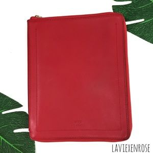 Kate Spade Saturday Red iPad Zip Case